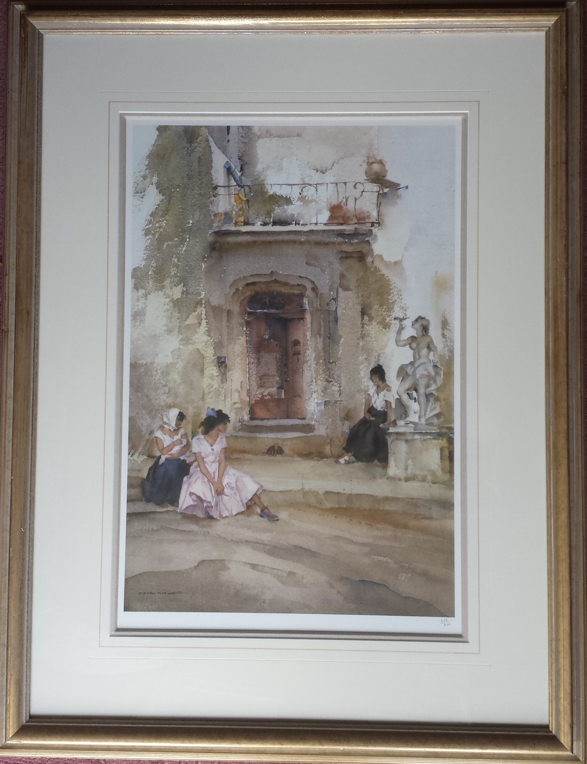 sir william russell flint ancient doorway cordes print
