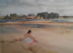 russell flint annemarie by the loire