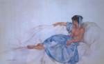 sir william russell flint blue ribbon limited edition print