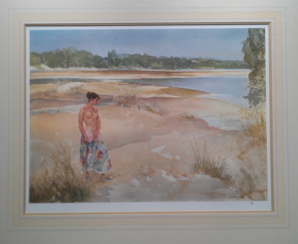 russell flint carlotta on the Loire print