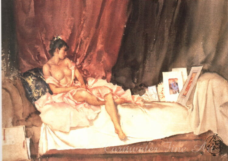 russell flint cecilia and her studies, print