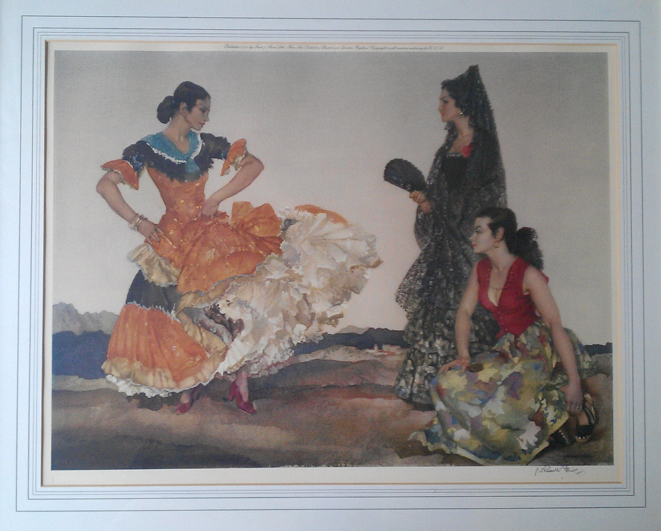 russell flint dance of a thousand flounces print
