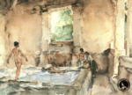 sir william russell flint lavoir la bastide signed limited edition print