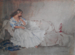 sir william russell flint looking glass limited edition print