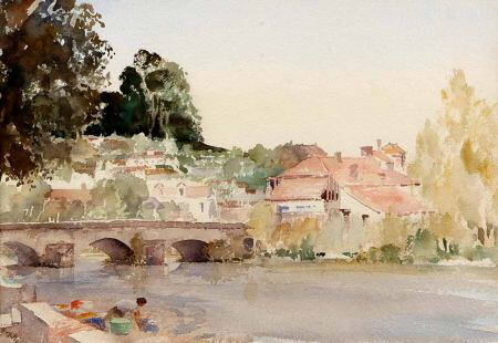 russell flint watercolour river dronne Brantome