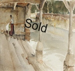 sir william russell flint, Lavoir Cologne original watercolour painting