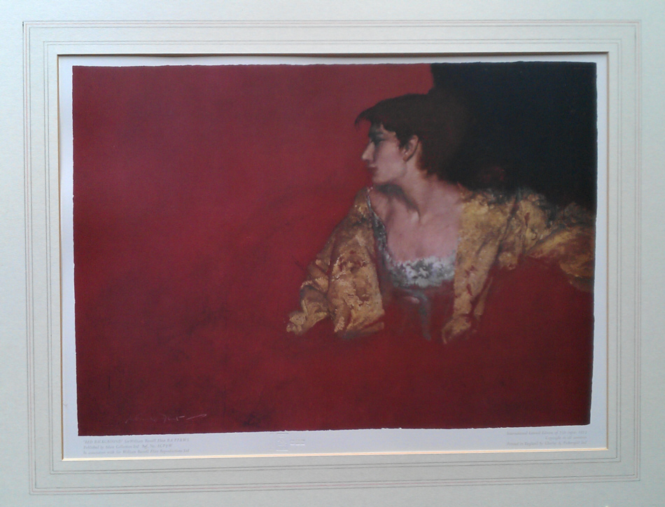 russell flint red background, print