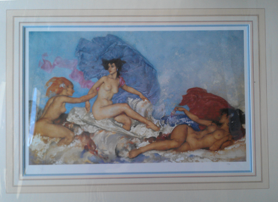 russell flint rococo aphrodite print
