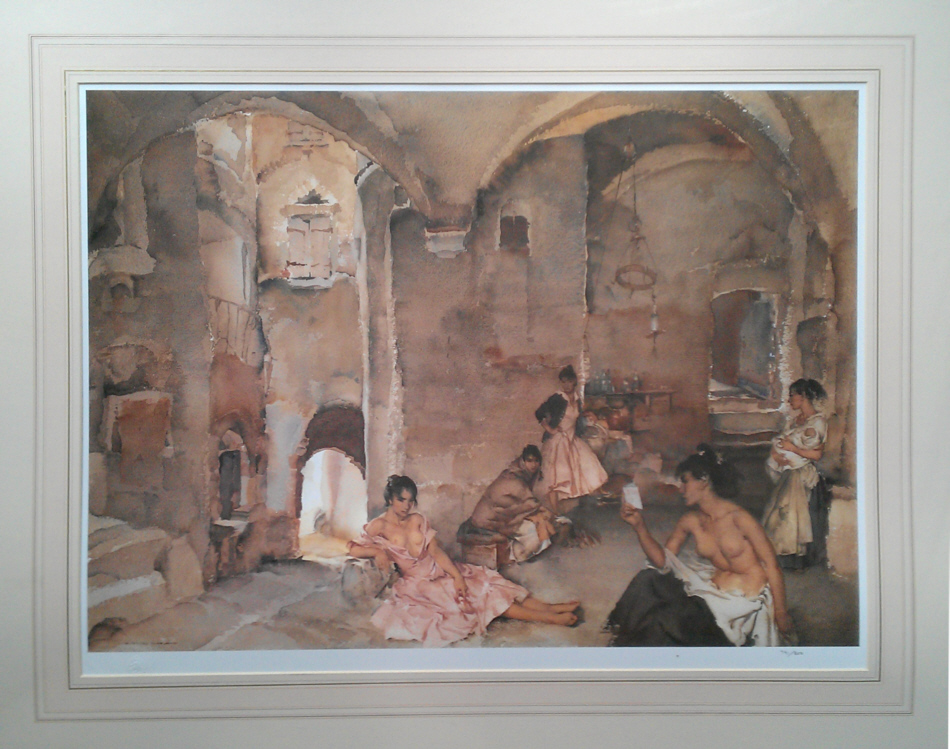 russell flint symposiun at Lucenay, print