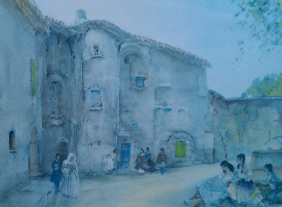 russell flint three groups viviers print