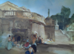 russell flint under the palace terrace, compiegne