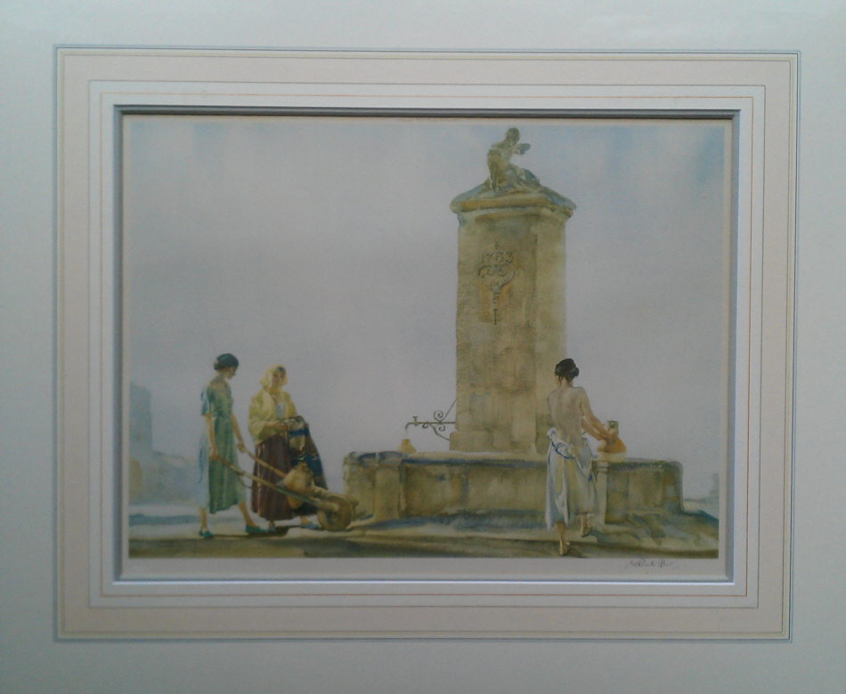 russell flint whispering well print